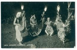 Vintage, Ceylon, Devil Dancing Ceremony. Real Photo Pc, Unused. - Asia