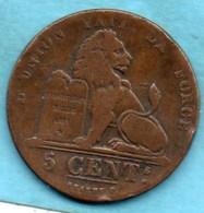 (r65)  BELGIQUE / BELGIUM  5 CENTS 1851  French Légend - 1831-1865: Léopold I.