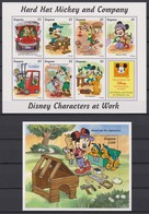 2316  WALT DISNEY - GUYANA ( DISNEY Characters At Work ) Hard Hat Mickey And Company . - Disney