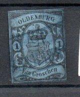 Oldenbourg / N 6 / 1 G Bleu /  Oblitéré / Côte 60 € - Oldenbourg