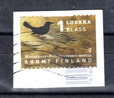 Finlandia  -  2018.  Tordo. Throstle. Self Adhesive - Sparrows