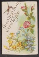 General Greetings - Greetings From Clara Taylor - Used C1910 - Greetings From...