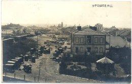Kosovo: Uroševac (Ferizaj), View Of The Railway Station And Horse Carts - Kosovo