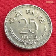 India 25 Paise 1975 B KM# 49.1  Inde Indien - India
