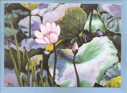 Pusan (Busan) South Korea Flowers By Choi Sel Ho 2 Scans Villages Du Monde Pour Enfants 14 Rue De Marignan Paris 8e - Corée Du Sud