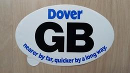 Aufkleber Mit Werbung Für Dover In Form Eines Auto-Kennzeichens - Autocollants