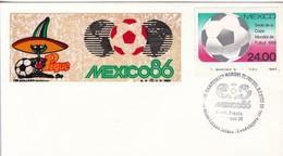 MEXICO 86, SEDE DE LA COPA MUNDIAL. OBLITERE GUADALAJARA- BLEUP - World Cup