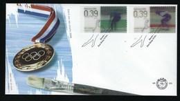 Enveloppe  Jeux Olympique Schenk Sapporo 1972, Yvonne Van Gennip  Calgary Tp Holographique - FDC