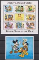 2320  WALT DISNEY - GUYANA ( DISNEY Characters At Work ) Micky's Arts And Crafts. - Disney