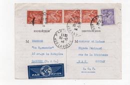 !!! PRIX FIXE : CARTE POSTALE PAR AVION AFFRANCH IRIS DU 30/11/1944 POUR GAO (SOUDAN) - Guerre De 1939-45