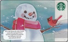 "Germany  Starbucks Card ""Snowmann"" 2014-6100 - Gift Cards"