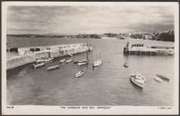 The Harbour And Bay, Newquay, Cornwall, 1951 - Tuck's RP Postcard - Newquay