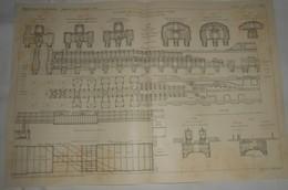 Plan Du Chemin De Fer Métropolitain De Paris. Ligne N°6. Du Cours De Vincennes à La Place D'Italie. 1911 - Public Works
