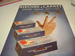 ANCIENNE PUBLICITE PATE 3 ETOILES RIVOIRE & CARRET 1951 - Posters