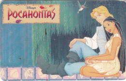 ARGENTINA(chip) - Disney/Pocahontas, Telefonica Telecard(F 15), Chip GEM1, 07/96, Used - Argentina