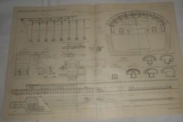 Plan Du Chemin De Fer Métropolitain De Paris. Ligne N°6. Du Cours De Vincennes à La Place D'Italie. 1911 - Travaux Publics