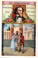 Chromo Bon-point. Thème Compositeurs Célèbres. Société Salvy. Mendelssohn. Oedipe. - Trade Cards