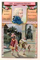Chromo Bon-point. Thème Compositeurs Célèbres. Société Salvy. Mozart. Don Juan. - Trade Cards