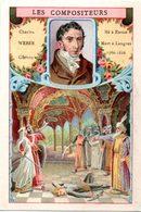 Chromo Bon-point. Thème Compositeurs Célèbres. Société Salvy. Charles Weber. Obéron. - Trade Cards