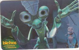 "ARGENTINA(chip) - Disney/A Bug""s Life 1, Telefonica Telecard(F 134), 10/98, Used - Disney"