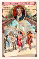 Chromo Bon-point. Thème Compositeurs Célèbres. Société Salvy. Beethoven. Fidélio. - Trade Cards