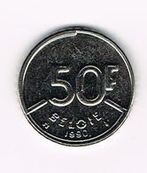 &  BOUDEWIJN 50 FRANK 1990  VL - 1951-1993: Baudouin I