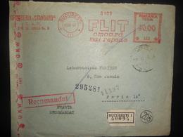 Roumanie , Lettre De Bucaresti 1943 Pour Paris Avec Censure - Brieven En Documenten