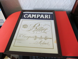 MIROIR PUBLICITAIRE CAMPARI  BITTER   -  G. CAMPARI  MILANO -  (  ITALY  )  ( Pas Courant ) - Specchi