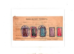 SUDAN 1900 Telegrafo Parte Di Modulo Con Il 2p Filigrana II Tipo  E Altri - Sudan (...-1951)