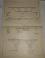 Plan Du Viaduc De Lantosque. Chemin De Fer électrique De La Vallées De La Vésubie. Alpes Maritimes. 1911 - Travaux Publics