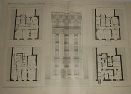 Plan D'une Maison De Rapport, Rue Hallé à Paris.M. E. Wagret, Architecte. 1911 - Public Works