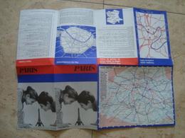 PARIS. CARTE. MÉTRO - FRANCE, 1969. - Toeristische Brochures