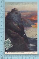 CPA Voyagé 1907 - Raphael Tuck Oilette,  - The Castle Rock, Sunset  Art Series #1721 - Stamp CND #89 - Tuck, Raphael