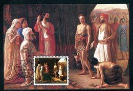 Jersey - Carte Maximum 1983 - Oeuvre De Walter William Ouless - David Contre Goliath - Jersey