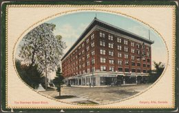 The Sherman Grand Block, Calgary, Alberta, 1915 - Valentine's Postcard - Calgary