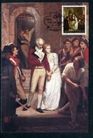 Jersey - Carte Maximum 1983 - Oeuvre De Walter William Ouless - Révolution Française - Jersey