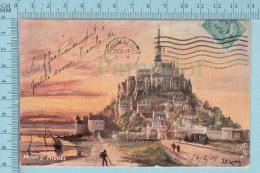 CPA Voyagé 1908 - Raphael Tuck Oilette,  -S.M.Song, Mont St-Michel  #7175 - Stamp CND #89 - Tuck, Raphael