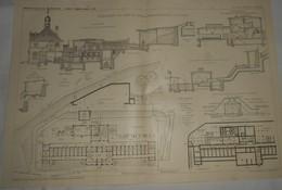 Plan De L'établissement Des Bains De Boues De Langenschwalbach En Allemagne. 1911 - Travaux Publics
