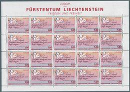1995 Europa C.E.P.T., Minifogli Liechtenstein, Serie Completa Nuova (**) - Europa-CEPT