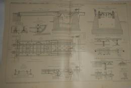 Plan D'un Pont Basculant Et Roulant. Système Scherzer. Des Chemins De Fer De L'Etat D'Oldenbourg En Allemagne. 1911 - Travaux Publics