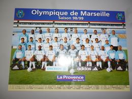 POSTER COLLECTOR 24  FOOT FOOTBALL OM OLYMPIQUE DE MARSEILLE  38 X 27 CMS - Football