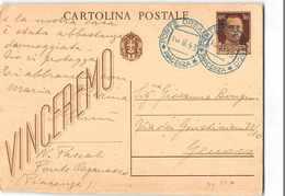 15511 01  CARTOLINA POSTALE 30 CENT. - PONTE ORGANASCO X GENOVA - TIMBRO BLU - Interi Postali