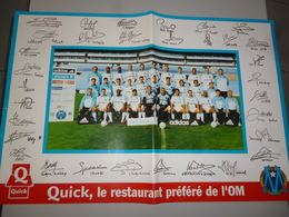 POSTER COLLECTOR 21  FOOT FOOTBALL OM OLYMPIQUE DE MARSEILLE  60 X 40 CMS DEDICACES - Football