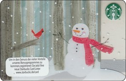 "Germany  Starbucks Card ""Snowmann"" 2015-6111 - Gift Cards"