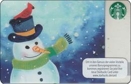 "Germany  Starbucks Card ""Snowmann"" 2016-6128 - Gift Cards"