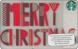 Germany  Starbucks Card Merry Christmass 2015-6112 - Gift Cards