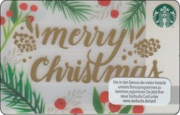 Germany  Starbucks Card Merry Christmass 2016-6128 - Gift Cards