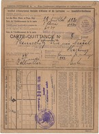 Carte-Quittance Institut D'Assurance Alsace-Lorraine, Strasbourg, 30.4. 1936 (4scans) - Documents Historiques