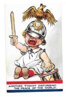 GUERRE 1914-18 Carte Illustrée Maman Je Ne Veux Pas Etre Boche Enfant Casque Allemand - Humoristiques
