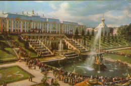 Russia - Postcard Unused  - Petrodvorets - The Great Palace With The Great Cascade - Rusland